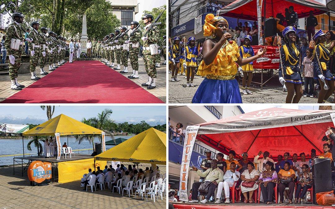 Homenaje a Miguel A. Caicedo, al Río Atrato y Bicentenario del Ejército Nacional.